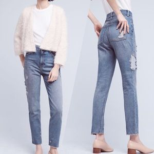 Pilcro& TheLetterpress  Distressed High Rise Jeans